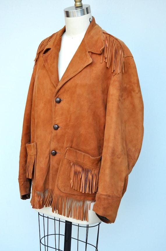 Vintage Fringed Leather Jacket - Leather Jacket -… - image 8