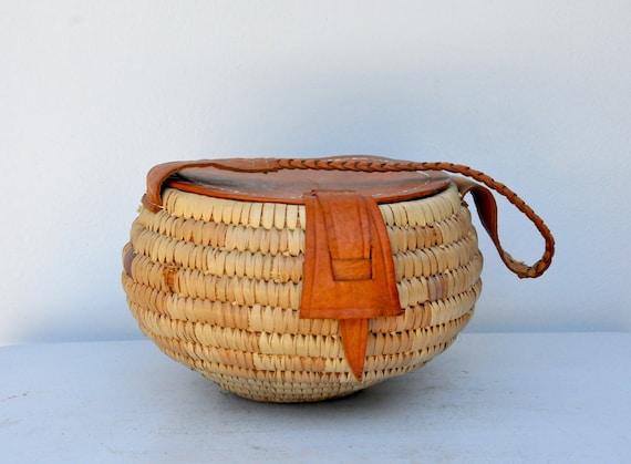 Italian Wicked Bag Purse - Round Straw Bag - Hand