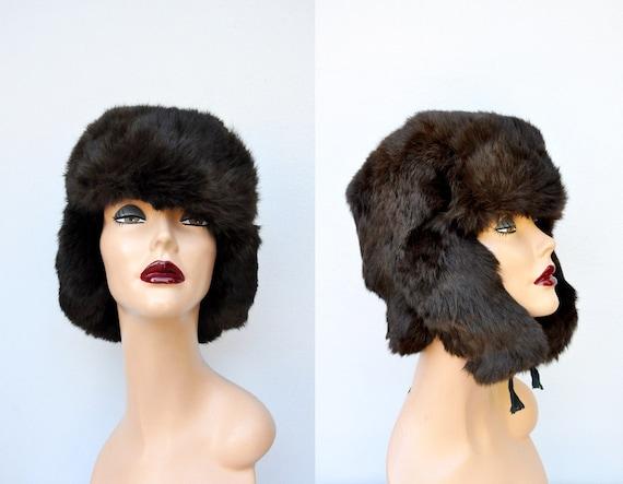 Vintage Russian Fur Hat - Cossack Hat - Ushanka Ha