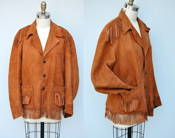 Vintage Leather Jacket - Fringed Leather Jacket -