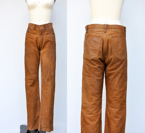 Vintage Brown Leather Pants - Woman's Leather Pant
