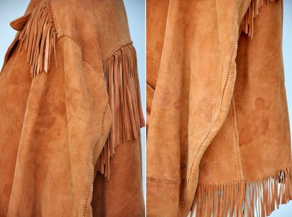 Vintage Fringed Leather Jacket - Leather Jacket -… - image 9