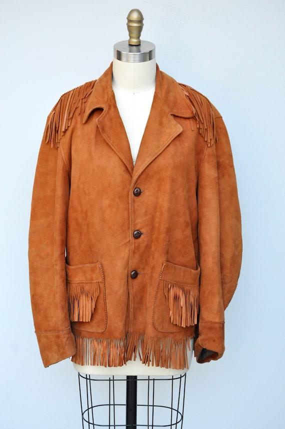 Vintage Fringed Leather Jacket - Leather Jacket -… - image 5