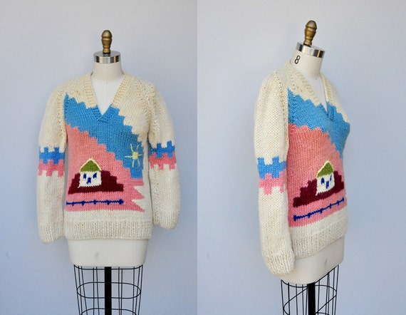 Novelty Wool Sweater - Chunky Sweater PullOver Swe