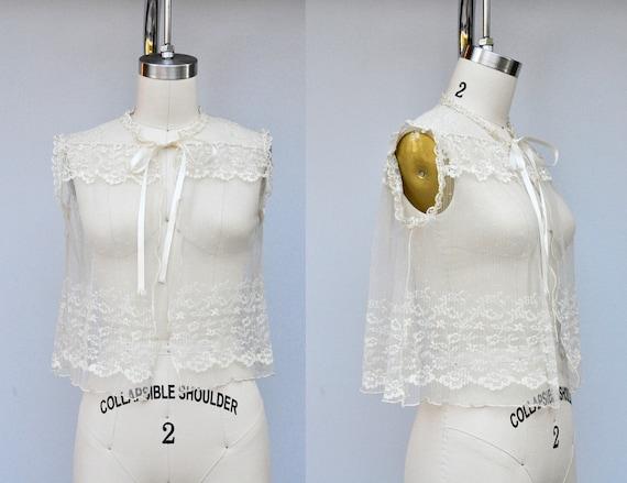 Vintage LACE Blouse - Lace Top - Ivory Lace - Shee