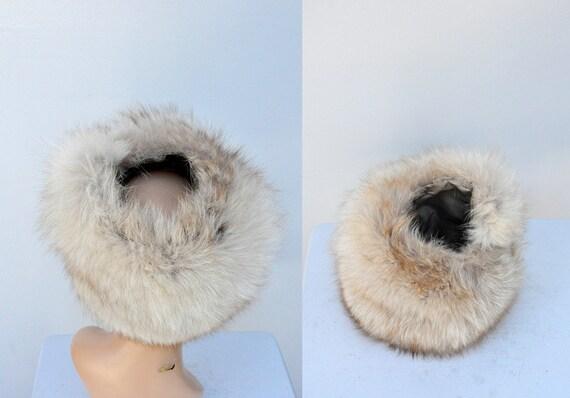 Vintage FOX Fur Hat - 50s 60s Mid Century Fox Fur… - image 4