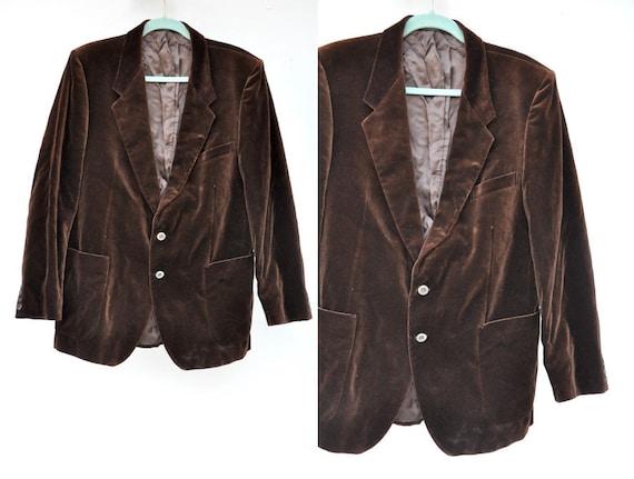 Yves Saint Laurent Brown Velvet Jacket - Men's Jac