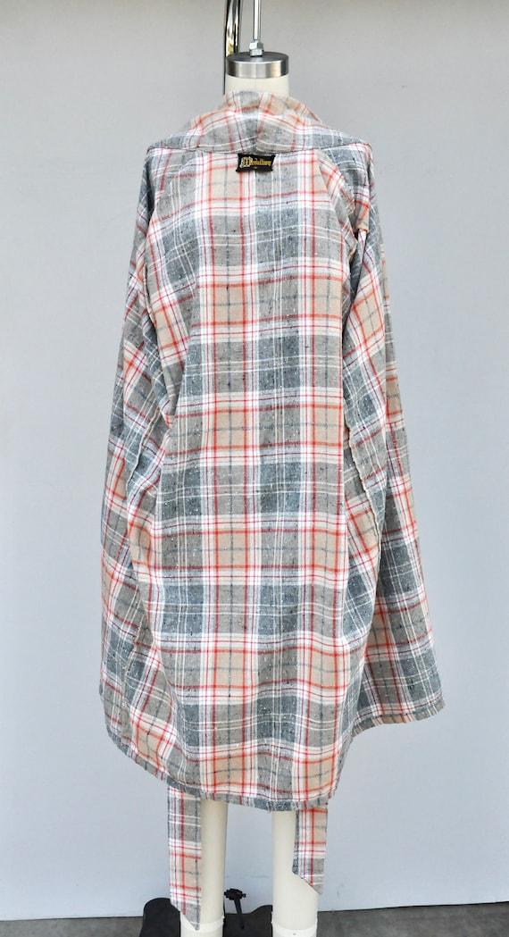 Vintage Unisex Robe - Checkered Plaid Robe - Bed … - image 2