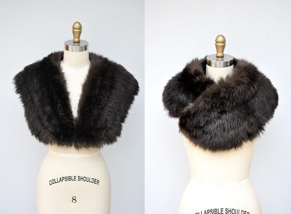 30s 40s Black Fox Fur Cape Capelet - Real Fur Sto… - image 1