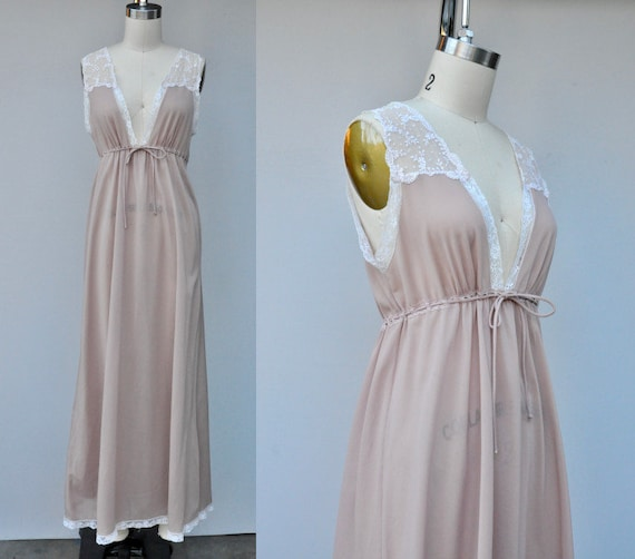 Vintage Christian Dior Night Gown - Vintage Lace N