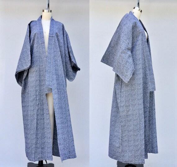 Vintage Cotton Kimono - Unisex Kimono - Long Kimon