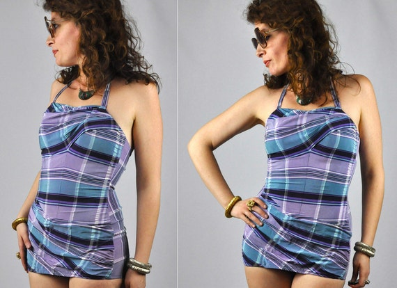 50s Swimsuit - 50s One Piece Swimsuit - Rose Marie