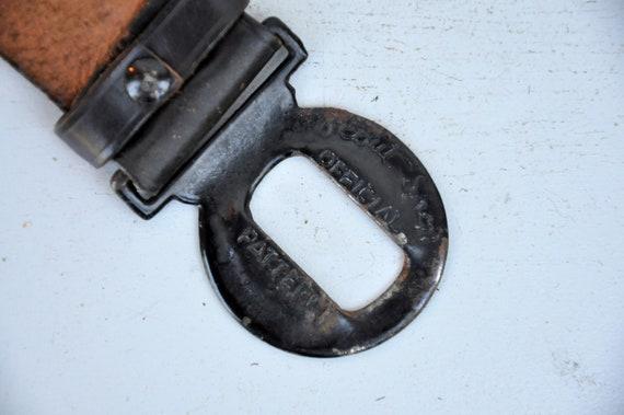 Vintage 30s 40s Boy Scouts Leather Belt - BSA Lea… - image 8