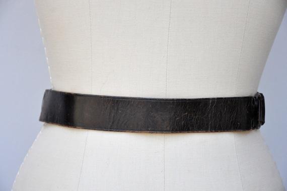 Vintage 30s 40s Boy Scouts Leather Belt - BSA Lea… - image 5
