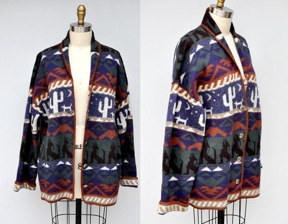 Vintage Wool Blanket Jacket Coat Cardigan - Pendle