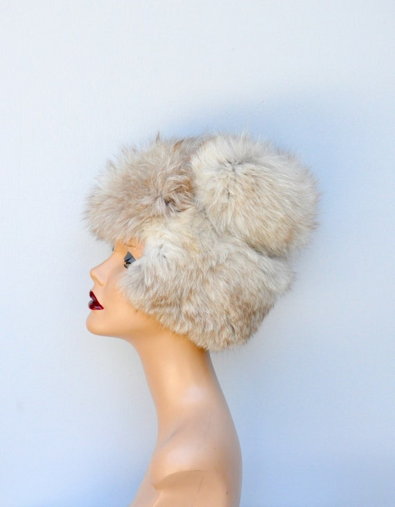 Vintage FOX Fur Hat - 50s 60s Mid Century Fox Fur… - image 3