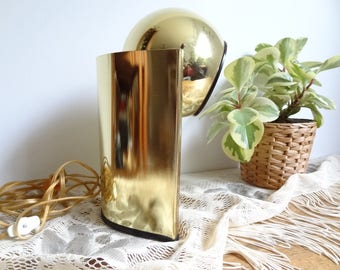 Vintage Gold Mid Century Modern Orb Table Lamp