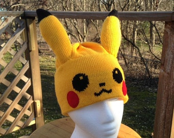 Pikachu Yellow Beanie Hat - Medium