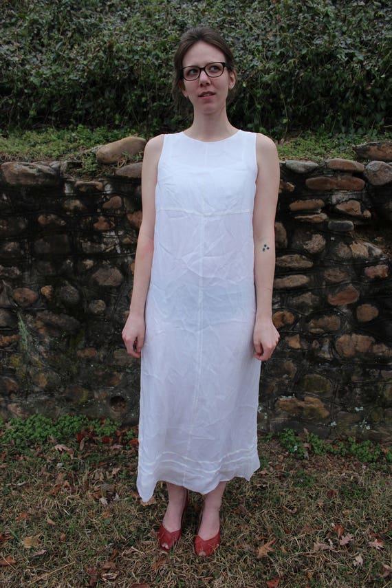 Vintage White Silk Dress