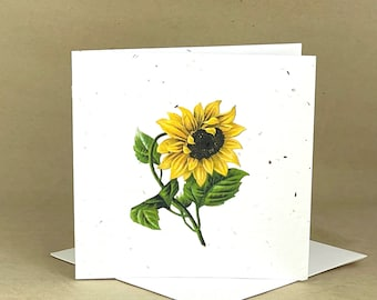 Plantable Eco-Friendly Seeded Card / Beautiful Sunflower #2