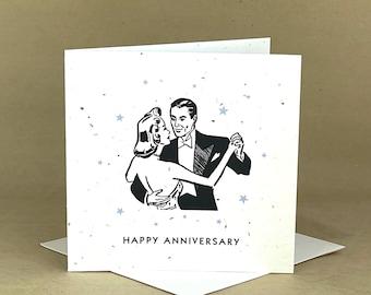 Plantable Eco-Friendly Seeded Card / Congrats ... Retro Couple Dancing