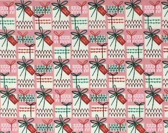 Organic Cotton Quilting Fabric - Cloud 9 Fabrics, Christmas Past - Gift Wrapped