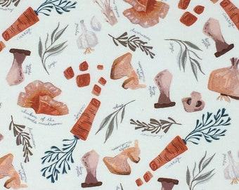 Poplin Quilting Woodland Cotton Fabric - Dear Stella, Mushroom City, Soup