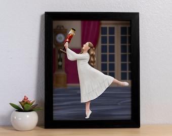 Nutcracker Ballet Clara and the Nutcracker art print