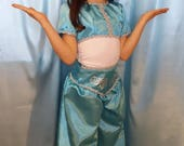Girl's Blue and silver Jasmine three piece costume size 6-7