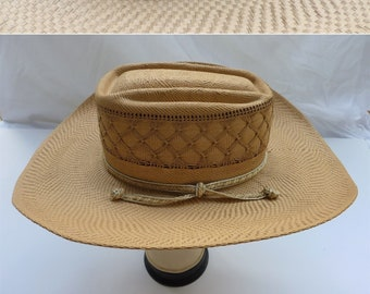 Bailey s U-Rollit Vintage 1960 Straw Cowboy Hat. Cowgirl Small. Size 6 3 8