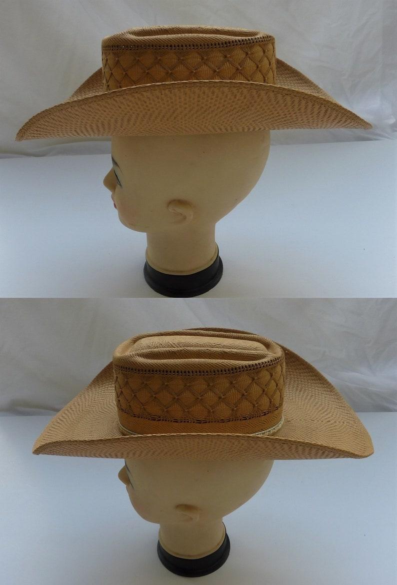 881d591b Bailey's U-Rollit Vintage 1960 Straw Cowboy Hat. Cowgirl | Etsy