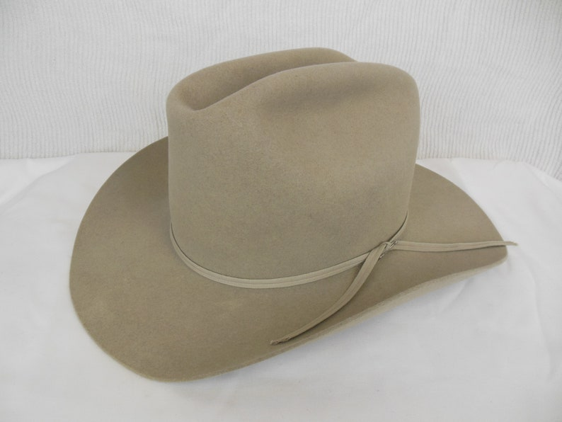 03879ad227125 1950s Resistol Self-Conforming XXX Beaver Felt Cowboy Hat