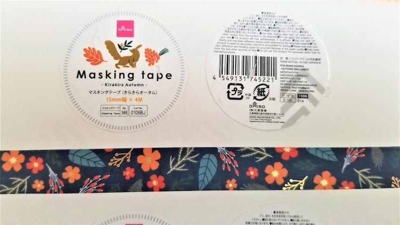 Washi Tape Planner Autumn Theme Washi Tape Washi Tape Strips Washi Tape Stickers Flower Theme Washi Tape Samples