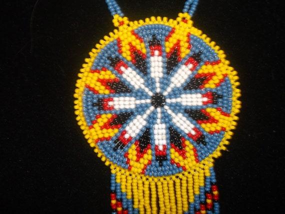 Native American Necklace Native American Beadworknative Etsy