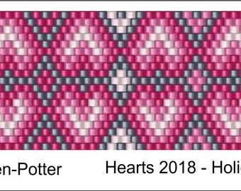 Heart2018 Peyote Pattern .PDF File