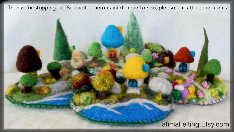 Cottage by the Enchanted Forest Dimensional Fiber Art Sculpture Mini Cottage.