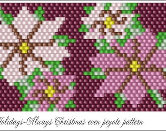 Holidays-Always Christmas Bracelet Pattern .PDF File