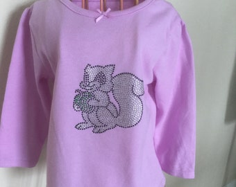 Baby & Toddler Clothing Crazy 8~lot Of 2 Purple Fox And White Squirrel Long Sleeve Shirts~girls 2t Girls' Clothing (newborn-5t)