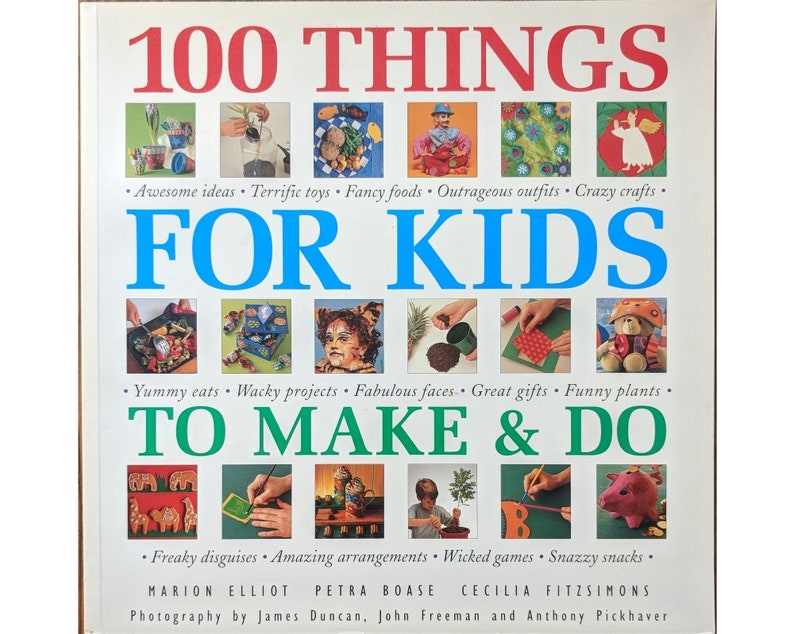 Craft Book 100 Things For Kids To Make Do By Petra Boase Etsy