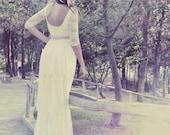 Boho Ivory Lace Long Brides Wedding Dress, Bohemian Wedding Dresses, Boho Bridal Dress, Boho Bridal Gown, Boho Summer Bohemian Wedding Gown