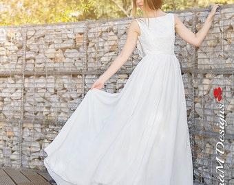 Wedding Dress, Bohemian Wedding Gown, Boho Bridal Dress, Long Wedding Dress, Ivory Lace Dress, Lace Wedding Dress Handmade bySuzannaMDesigns