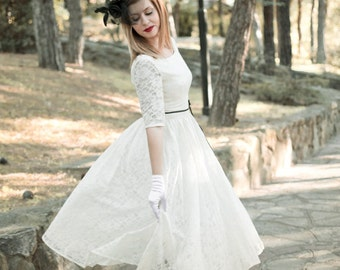 584bd10011 Handmade 50s Wedding Dress