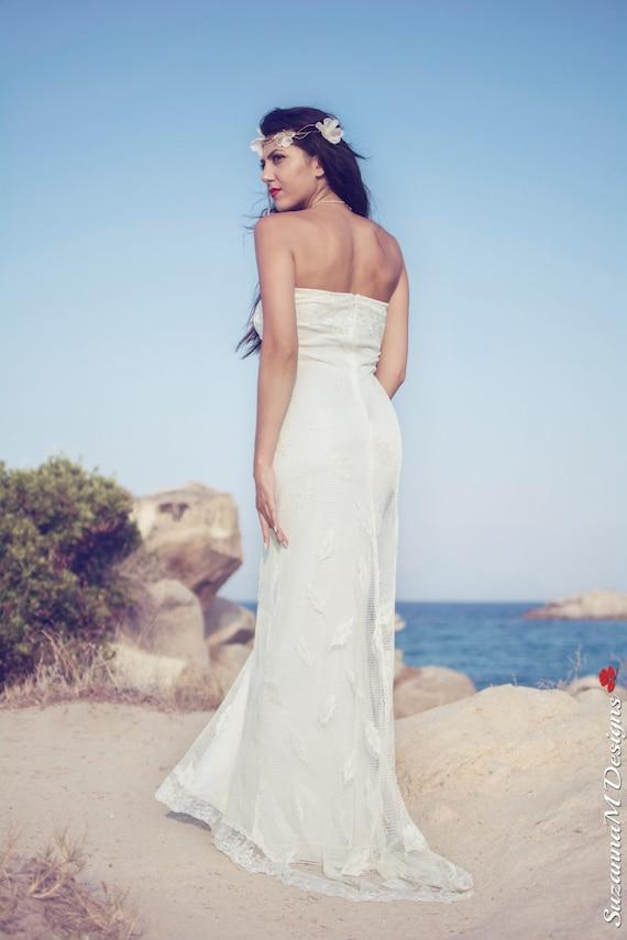 Handmade Bohemian Wedding Dress Gown Wedding Boho Designs Wedding Bridal Lace Rustic SuzannaM Wedding Dress Strapless Wedding Dress wXPq6