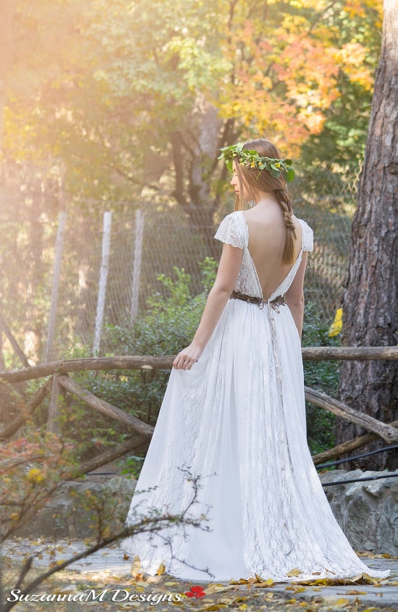 Wedding Dress Bohemian Wedding Gown Boho Bridal Dress Long | Etsy