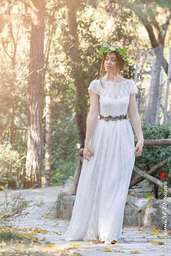 Lace Wedding Dress Dress Wedding Bridal Boho Dress Adalina Dress Wedding Bohemian Ivory Gown Lace Dress by Dress Long SuzannaM Wedding 7E7dqcPwy