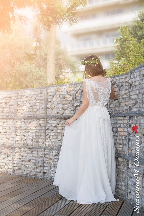 Dress Wedding Dress Ivory Dress Dress Long Dress bySuzannaMDesigns Boho Bohemian Gown Bridal Handmade Lace Wedding Wedding Wedding Lace 8w7pH