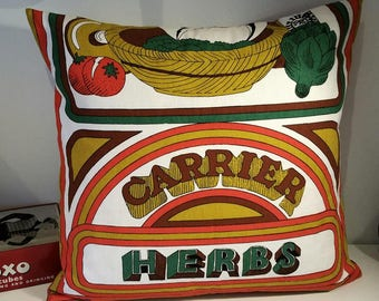 Vintage 'Good Life' Cushion or Pillow Cover