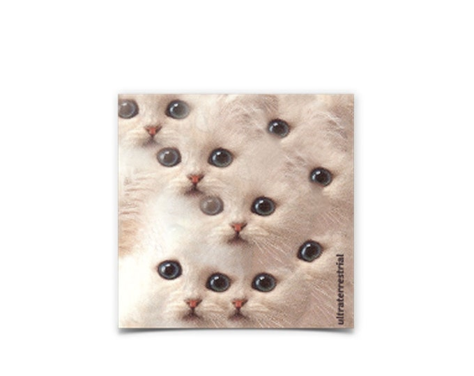 Cat Eyes weatherproof sticker