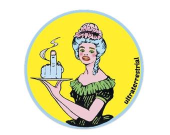 Middle Finger Waitress vinyl sticker