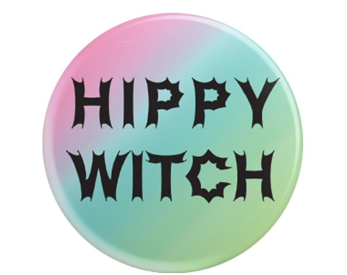 "Hippy Witch 2.25"" pinback button"